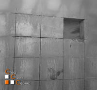Проем в бетонной несущей стене